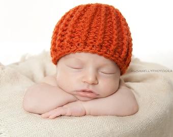Kids Hat, boys crochet hat, halloween crochet hat, baby girl fall hat, newborn hats, newborn photo prop crochet newborn, Fall hat