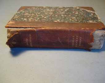 David Copperfield Vintage Book By Charles Dickes Antique Book, First Edition with Illustrations, Personal History, and Experience