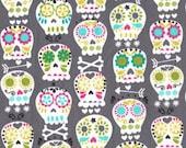 1 yard - Bonehead in grey, Michael Miller Fabrics