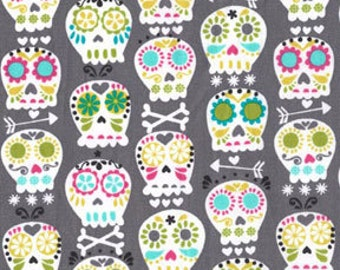1/2 yard - Bonehead in grey, Michael Miller Fabrics