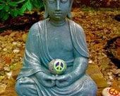 Buddha Peace Rock Art Print