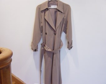 vintage 90s jones ny slouchy structured raincoat s-m
