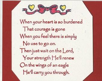 NEW ITEM-Burdened Heart Inspirational Cards-Set of 10