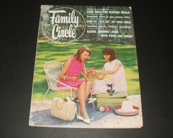 Vintage Family Circle Magazine June 1964 - 15 Cent Cover Price - Art- Scrapbooking - Retro Vintage Ads