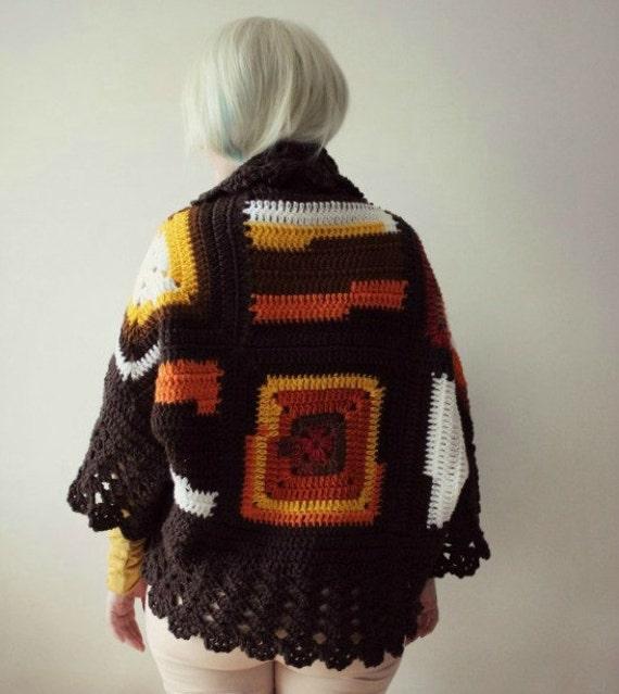 Chunky Knit Cardigan, Bohemian Cardigan, Womens Cardigan, Crochet Cardigan, Blanket Cardigan, Oversized Cardigan, Womens Gift, Chunky Knits