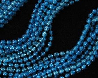 Vintage Blue Plastic Necklace 46 Inch 4 Strand