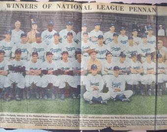 Brooklyn Dodgers Winners National League Pennant / Jackie Robinson / 1947 / Make Offer