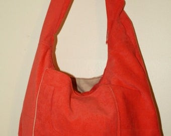 Leather-suede Upcycled HoBo Hippie Bag-Back nto School Sale.