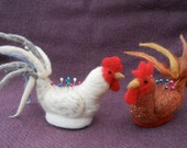 Henny Pinny A Pin Cushion White Chantecler Chicken A Needle Felted Gift