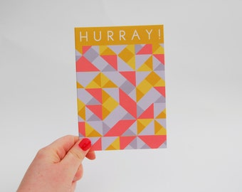 Geometric Hurray Card