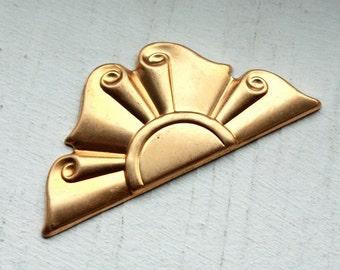 3 Vintage Brass Art Deco Stampings // Busby Berkeley Backdrop