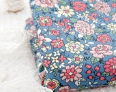 Lovely Floral on Cotton in BLUE, U6049
