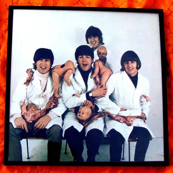 Beatles 1966 Butcher Album Cover Art Released On The Inside