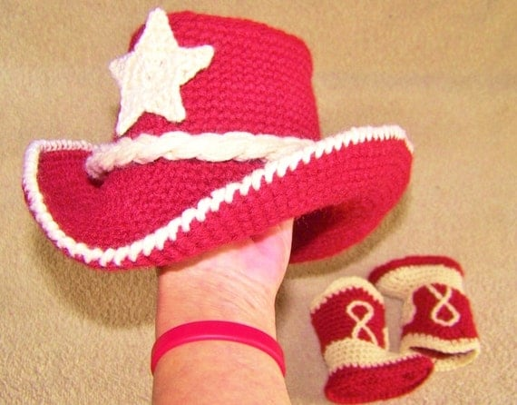 Baby Cowboy Outfit - Photo Props - Crochet Baby Outfit - Ranch Red And Cream Cowboy Outfit - Photo Prop - Baby Western Wear - Buckaroo