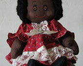 Adorable Vintage Handcrafted African-American Katy-Bek Kreations Doll
