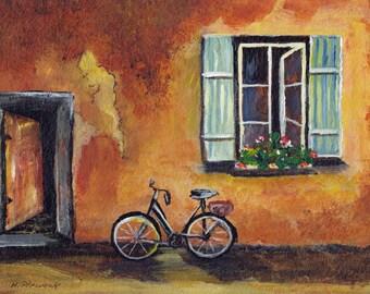 Window Box - Original Acrylic Painting