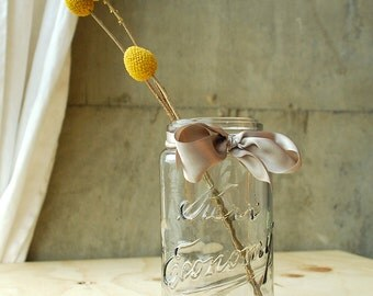 Antique Kerr Economy Jar - Vintage Glass Canning Jar - Mason Jar