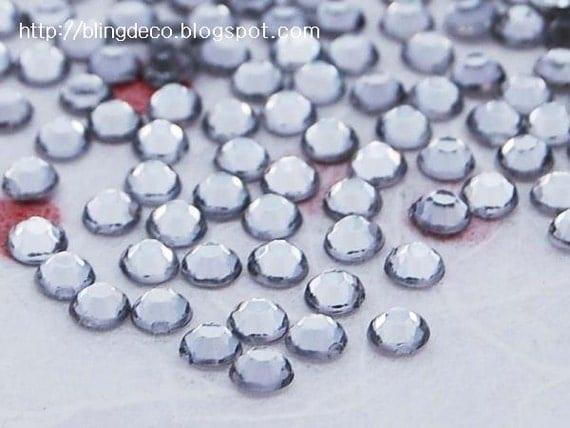 1000 pcs of Clear 4mm flat back round acrylic rhinestone - Free Shipping Worldwide