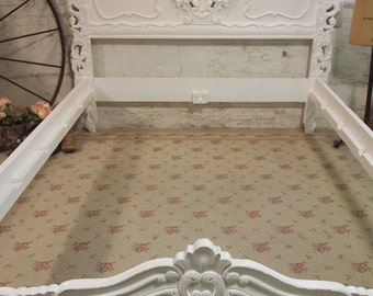 Painted Cottage Shabby Rococo Fancy Romantic Queen Bed BD04