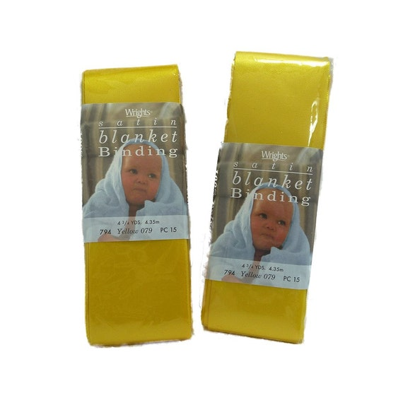 Blanket Binding Yellow 1 Package Wrights Satin 2 By