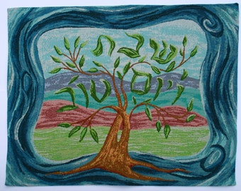 Tree of Life Tapestry Challah Cover