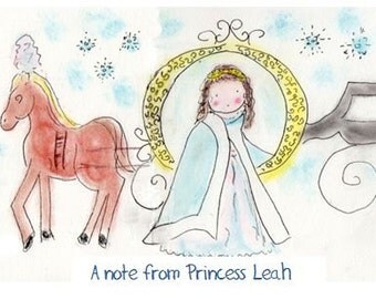 Princess  Note Cards-Set of Five