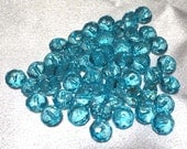 Aqua Blue Lucite Rondelles, 8 mm, Package of 10, Jewelry Supplies