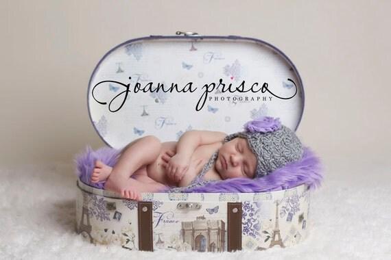 Light Purple Shag Faux Fur Fabric Nest, Newborn Girl Props, Blanket Basket Stuffer Prop, Fake Fur Photo Props