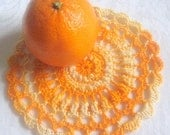 Shades of Orange Doily 1