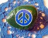 Peace Sign Rock Art
