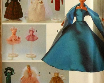 """11.5"""" Fashion Doll Clothes Sewing Pattern UNCUT gown tutu Simplicity 8481"""