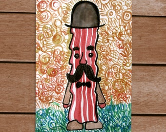 Sir Bacon Postcard