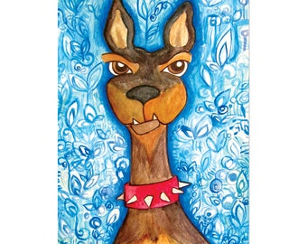 Doberman Pinscher 5x7 Limited Edition Print