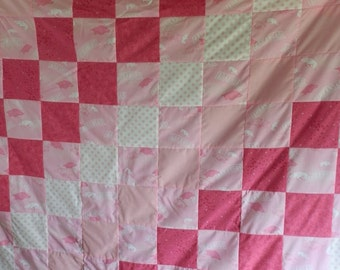 Twin Size Pink Razorback Quilt