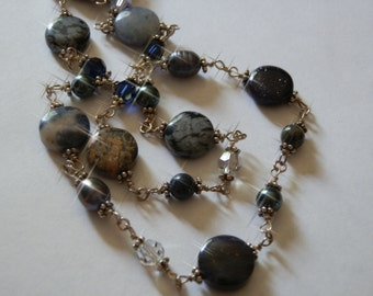 Handwrapped Natural Stone Necklace