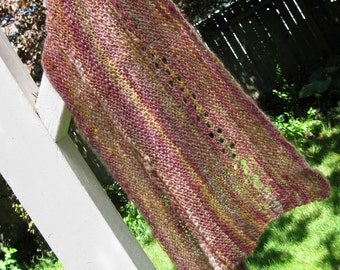 Onto Better Times - Handspun, handknit scarf