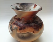 Pit Fired Vase - Handmade Pottery Fired with Natural Elements