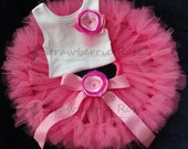Baby Girls Birthday Tutu Dress Outfit, Pinkalicious Pink Birthday Tutu Dress