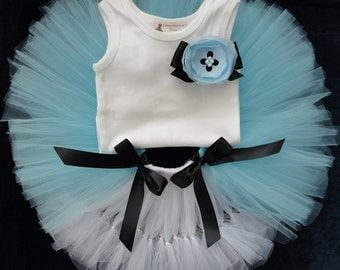 Alice in Wonderland Dress for Baby Girls, Blue Alice Dress, Alice in Wonderland Birthday Party