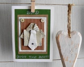 Father's Day Card, Origami Shirt and Tie, Gift Card for Him, Mens gift card, Dad Your the Best