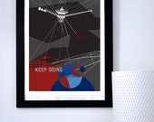 Science Poster Art Print Original Illustration-Voyager 1 Space Probe Science Poster Print - Wall Art - Stellar Science Series