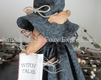 Primitive Halloween Mouse | Witch Mouse | Halloween decoratio | Mouse decor