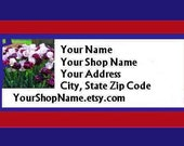 90 PERSONALIZED Return Address Labels. 3 Sheets of White 1-Inch Labels. 5096