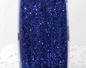 "Royal Blue Glitter Velvet Ribbon 3/8""wide Ribbon by the yard Weddings, Crafts, Gift Wrap, Sewing, Party Supplies, Glitter Trim, Home Decor"