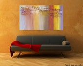 Large, Abstract Painting, Original, Contemporary, Abstract Art, Palette Knife, Wall Decor, Abstract, 30x54, Unstretched, Art, by Len Dickson