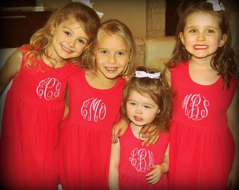 Personalized Monogram HOT PINK Dress or Bathing suit Coverup