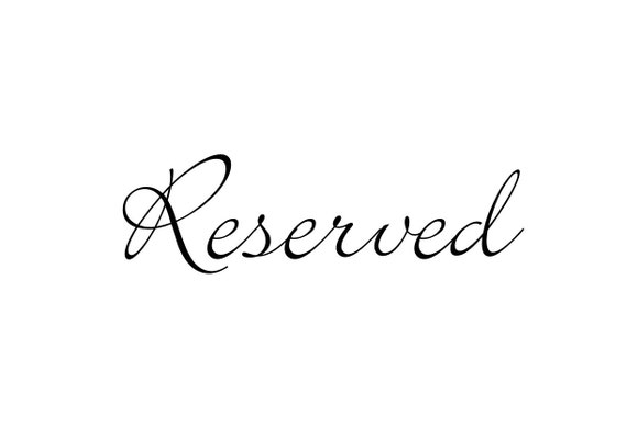 Reserved for  Gceleb85's