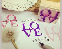 LOVE Stamp • Wood Block Craft Stamp (C126)