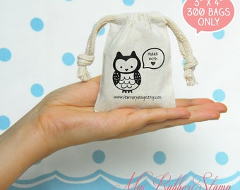 "300 3""x4"" Premium Muslin Bags 3x4 (DIY Wedding Favor, Business Branding, Gift Packaging, Product Branding)"