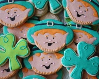 St. Patrick's Day Lucky Leprechaun cookies